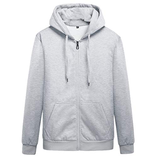 N\P Suéter casual de los hombres de color sólido cárdigan con capucha abrigo de tamaño grande suéter