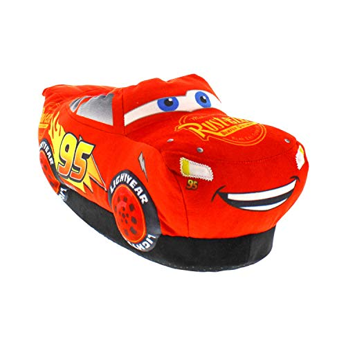7103-1 - Cars- Lightning McQueen Light Up Slippers - Small - Happy Feet Mens and Womens Slippers