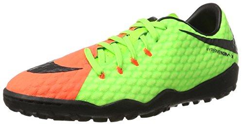 Nike Hypervenomx Phelon 3 TF, Scarpe da Calcio Uomo, Verde (Electric Green/Black-Hyper Orange-Volt), 40 EU