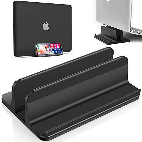 snaideal 3-in-1 Vertical Laptop Stand, Adjustable, Space Saving, Portable Desktop Holder Stand for all Macbook Laptops Notebooks (Black)