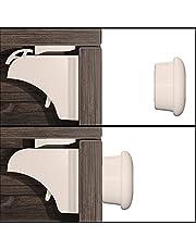 Hoffenbach® magnetyczne zabezpieczenie przed dziećmi, 12 + 3, niewidoczne zabezpieczenie szafy 3M, do przyklejenia, zabezpieczenie szuflad dla niemowląt i dzieci, 100% bezpieczeństwa