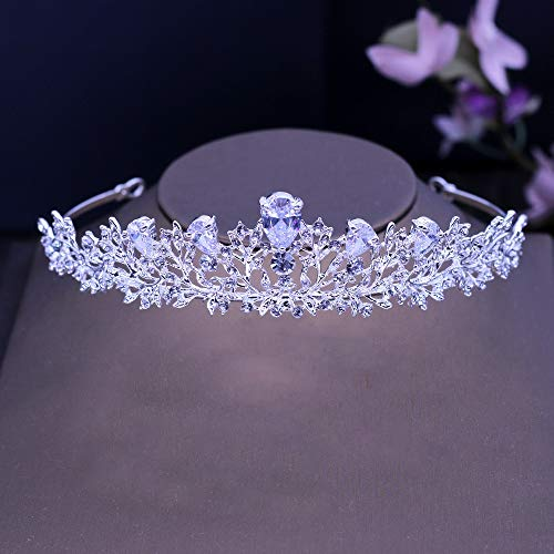 Liefde lamp Meisjes Tiaras Art Deco Kristallen Steentjes Legering Cubic Zircon Bruiloft Tiara Bruids Koningin Prinses Pageant Party Kroon Bruidsmeisjes Dames Hoofdbanden