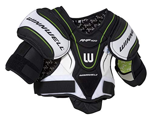 Winnwell AMP700 Junior Hockey Shoulder Pads with CleansSport NXT Odor Control Technology (Medium)