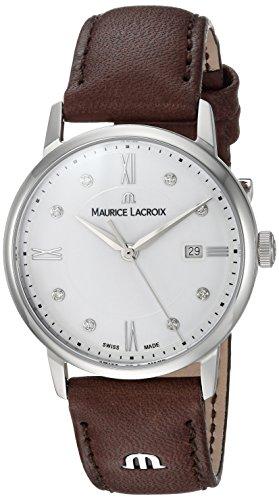 Maurice Lacroix Damen Analog Quarz Uhr mit Leder Armband EL1094-SS001-150-1