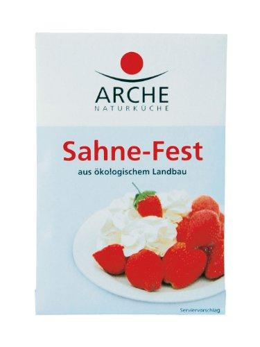 Arche Sahne-Fest (3 Päckchen) Bio Backzutat, 10er Pack (10 x 24 g)
