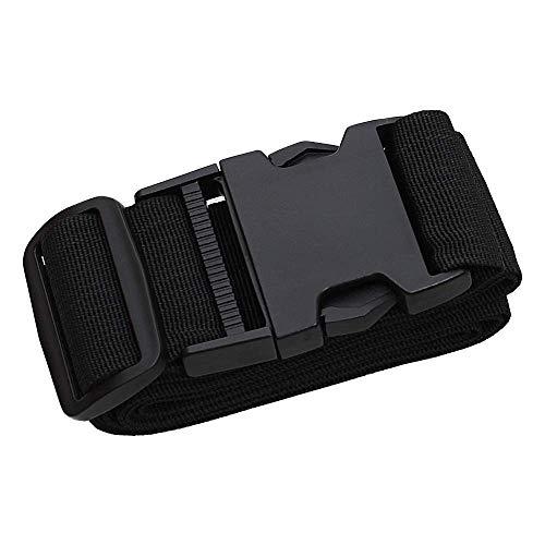 Bagageriem van nylon, verstelbaar met 1 bagage eenheidsmaat, zwart