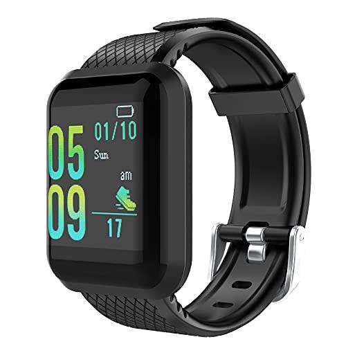 GeeRic Smartwatches 116 Pro,Reloj Inteligente Impermeable IP67 con Monitor de Sueño Pulsómetros Cronómetros Contador de Caloría,Health & Fitness, Pulsera de Actividad Inteligente con iOS y Android