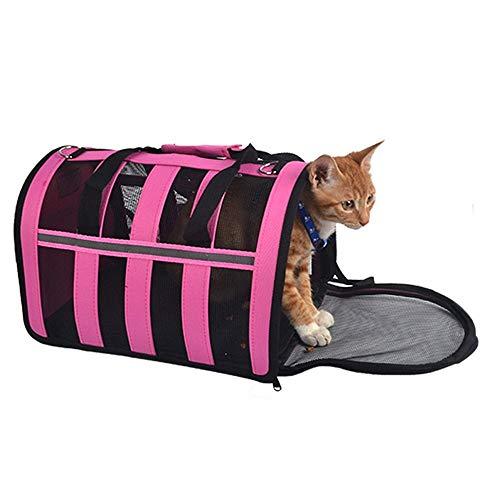 KKA Airline-zugelassene Haustierreisetasche mit Soft-Side-Gewebe, erweiterbare Faltbare Puppy Rabbit Small Animal-Handtaschenkiste (größe : M41.5 * 25.5 * 23.5cm)
