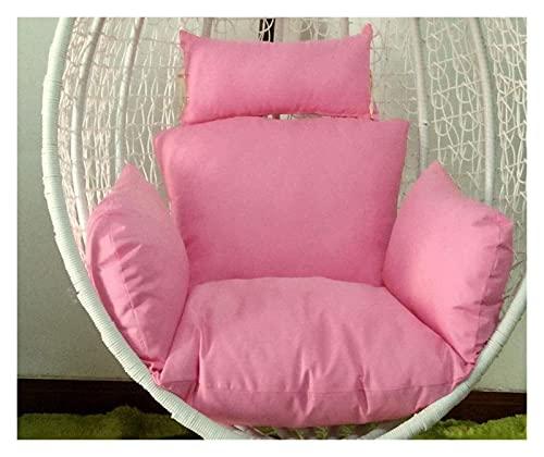 WangYUEQ - Cuscino per sedia a dondolo, cuscino per sedia a dondolo, cuscino per sedia a dondolo, in rattan, con imbottitura in tessuto, colore: rosa