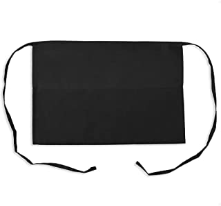 KNG Pack of 6 - Black Waist Apron, 3 Pockets