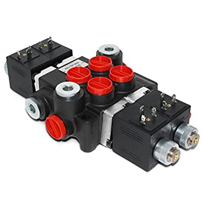 Hydraulic Monoblock Solenoid Directional Control Valve, 2 Spool, 13 GPM, 12V DC from Summit Hydraulics