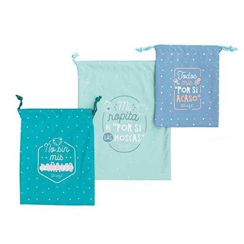 Set de bolsas de tela organizadoras para los imprescindibles de tu bebé.