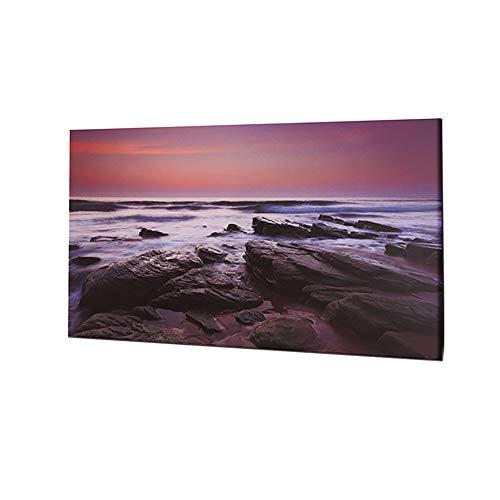 Dalux® LED-Wand-Leinwand-Bild mit Beleuchtung 60x40cm Stimmungs-Dekorations-indirekte-Leuchte-Lampe-Beleuchtung Batteriebetrieben (Meer)