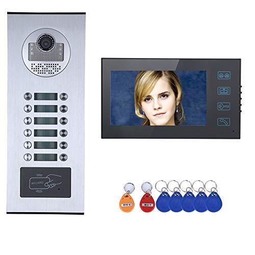 7 pouces système d'interphone vidéo de porte, disque étanche Appartements filaire Wifi RFID...