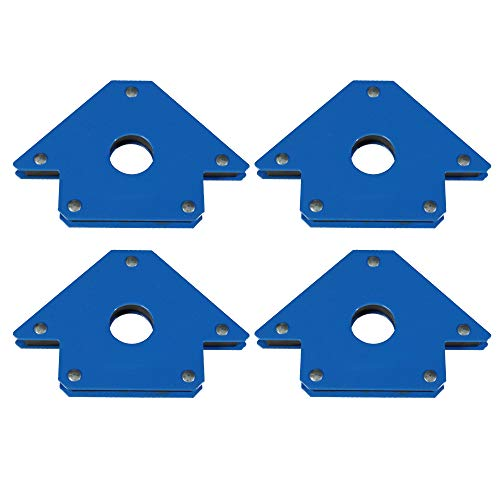 4 Stück Schweißer Winkelmagnet 100 mm - Haltekraft 13 kg Schweißmagnet mit 45°, 90° und 135° Neigung