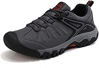 AX BOXING Men's Hiking Shoes Trekking Trail Shoes Climbing Casual Walking Running Shoes for Outdoors(Gray, Numeric_10)