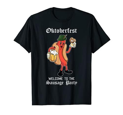 ソーセージパーティー オクトーバーフェスト ファニー ブラトヴュルスト ドイツ祭 Tシャツ