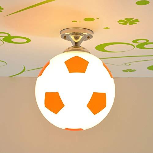 Candelabro Lámpara Moderno Minimalista Color Baloncesto Fútbol Araña Dormitorio Habitación para niños Balcón LED Lámpara de techo Luz de color cálido (Color : Red)