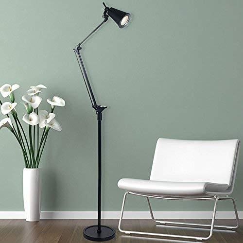 Lavish Home Adjustable LED Floor Lamp, Black (72')