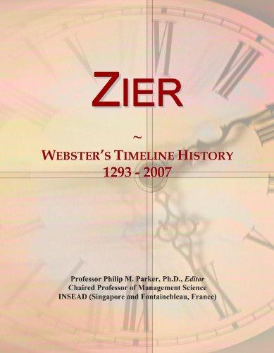 Zier: Webster's Timeline History, 1293 - 2007