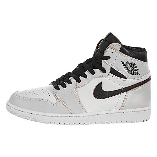 Nike Mens Air Jordan 1 High OG Defiant Light Bone Light Bone/Black-Crimson Leather Size 10.5
