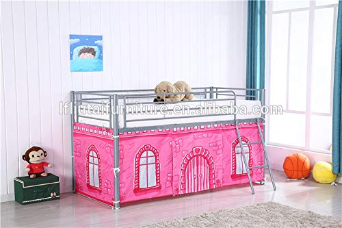 Home Leisure Stores Pink Castle Design Curtain Set for Midsleeper Cabin Bunk Bed