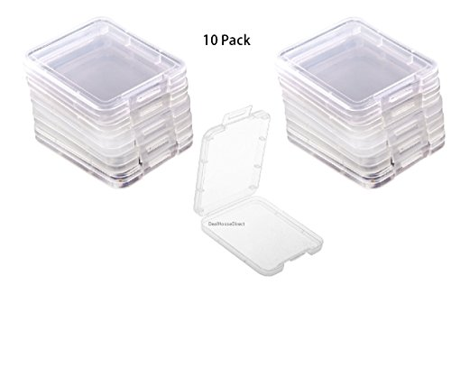 Hayatec, custodia trasparente per schede di memoria CF I II, SDHC, disponibile in confezioni da 5 e 10 custodie