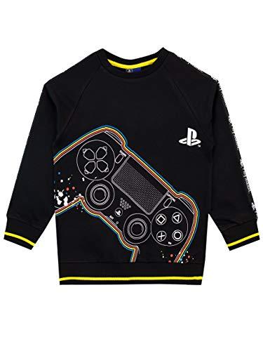 PlayStation Felpa per Ragazzi Nero 10-11 Anni
