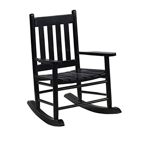 Coaster Home Furnishings Slat Back Black Youth Rocking Chair