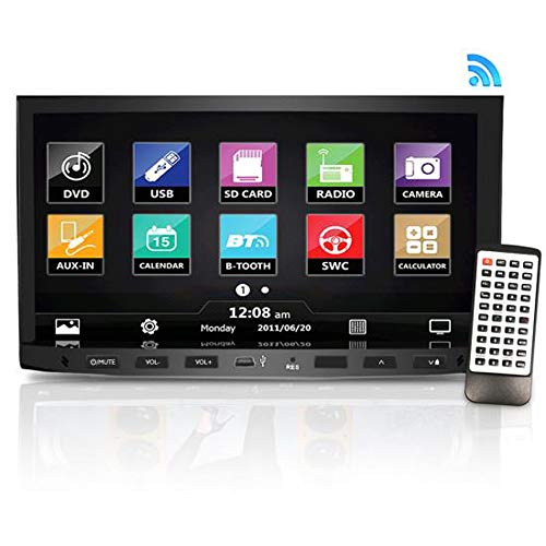 Premium Pyle 7-Inch Double-DIN Car Stereo Receiver With Bluetooth, Dash Touchscreen Screen, TFT/LCD Monitor, CD/DVD Player, Disc/MP3/MP4/USB /SD/AM/FM (NO Navigation Disc Included ) (PLDNV695B)