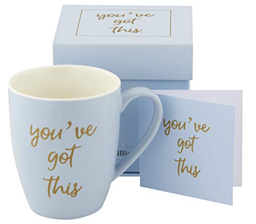 You've Got This Coffee Mugs for Women, Coffee Cup, Best Friend Birthday Gifts for Women, Inspirational Birthday Gifts for Friends Female, Microwave and Dishwasher Safe 12 oz (Blue)