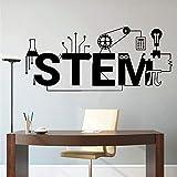 Ajcwhml Calcomanía de Pared Vinilo Ciencia tecnología Arte diseño Escuela Aula decoración Interior Pegatina Papel Tapiz decoración 33x75cm