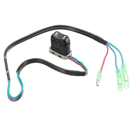 CHOUCHOU Colgante Pendientes Reemplazo de plástico Recorte portátil Interruptor de Inclinación for Yamaha Motor Fuera de borda del Mando a Distancia 703-82563-01-00