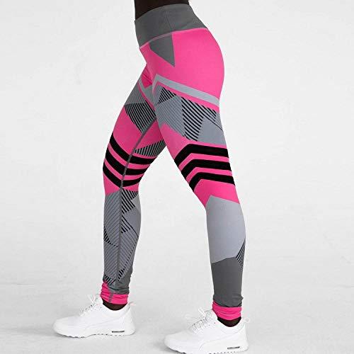 RUI Sportswear panty & Leggings voor dames panty voor dames blauw roze geometric Sports spandex Skinny Leggings Fitnessbroek