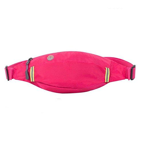 Sunny Sac De Taille Fitness Course À Pied Sac De Poitrine Sports De Plein Air Hommes Et Femmes Écouter De La Musique Camouflage (Couleur : Pink)