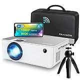 Proyector WiFi FANGOR 1080P Nativo HD Proyector Vídeo 6500 Lumens portátil Bluetooth Proyector Cine en casa Proyector...