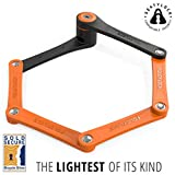 """FOLDYLOCK Compact Bike Lock Orange 