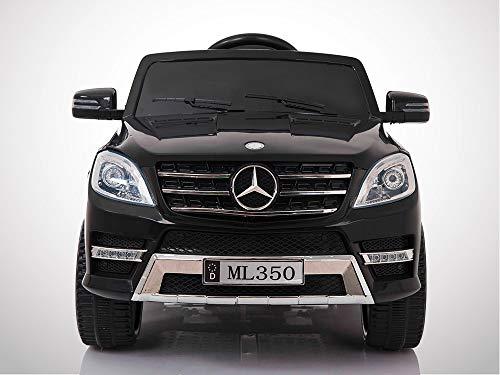 KINGTOYS - Auto elettrica per bambini, Mercedes ML 350, 50 W, colore: nero