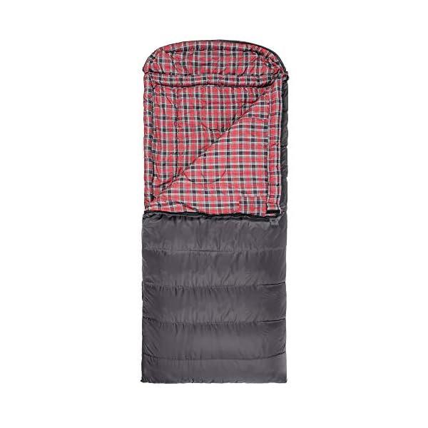 TETON Sports 18 Degree C Flannel Lined Left Zip Saco de Dormir con Cremallera Izquierda y Forro de Franela, Color Azul… 1