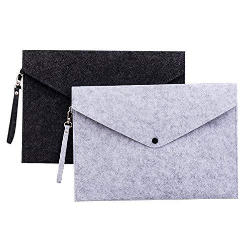 Ordnungsmappen, Packung Mit 2 A4 Filzdateien Document Wallets Paket Hängende Ordner Für Besprechung Konferenzbüro Geschäft - 34 * 25 * 0,3 cm