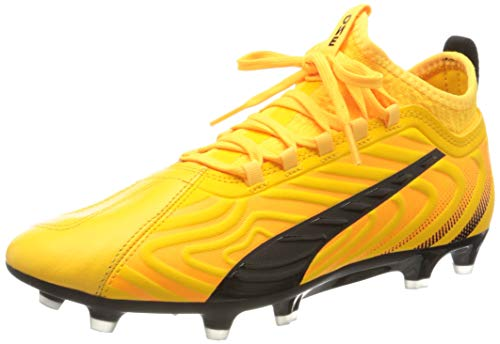 PUMA One 20.3 FG/AG, Botas de fútbol para Hombre, Amarillo (Ultra Yellow Black/Orange Alert), 42 EU