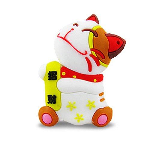 818-TEch No10300020016 clé USB (16 Go) chat porte-bonheur blanc
