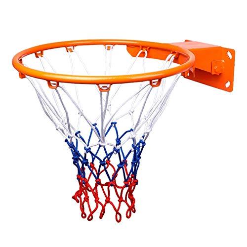 WYHM Durable Baloncesto Hoop Baloncesto Rot Red Montado en la Pared Anillo para Adultos y Niños Uso para Exteriores en Interiores 45cm / 18'Fácil de Instalar Completo Accesorios (tamaño : 45cm)