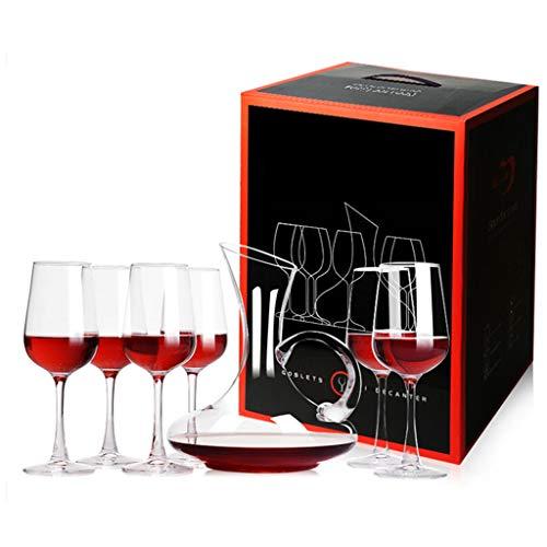 Cadeau de Mariage de Haute Qualité Transparent Sans Plomb Cristal Carafe en Verre de Vin Rouge Ensemble de 7 Pièces Home Hotel Grand Gobelet Verre à Vin Ensemble Cadeau Boîte D'emballage (201mL-350mL-