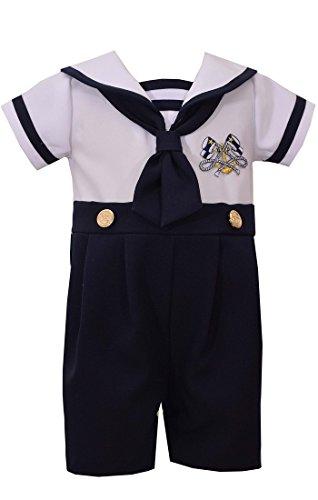 Bonnie Jean Boys Sailor Suit Outfit Nautical Boys Coverall (12 Months)...