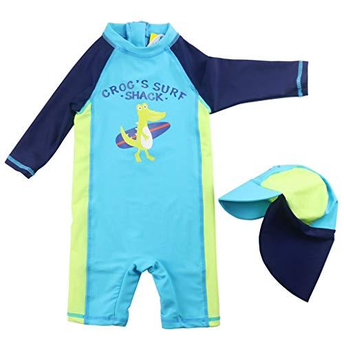 Kinder Badeanzug Jungen UV-Schutz Badesets Neoprenanzug Sonnenschutz Badebekleidung Surfen Taucheranzug mit Badekappe