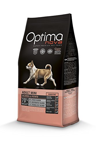Optima Nova - Pienso para perros adultos mini grain free salmón y patata