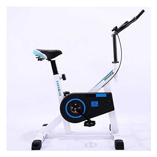 Indoor Cycling Bike met vliegwiel, hometrainer, verstelbare fitnessfiets voor cardiotraining thuis,White