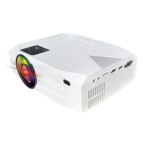 Home Theater 1920x1080 2000 Lumen a Cristalli liquidi Portatile del teatro Domestico Mini proiettore, Supporto HDMI/SD/USB/AV/VGA (Nero) (Colore : Bianca)