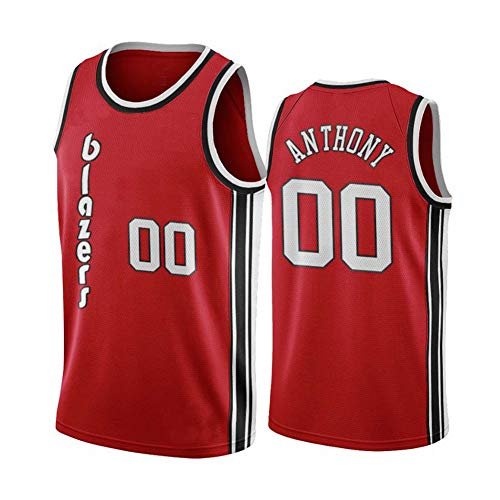 Basketballspiel Training Uniform Blazer Anthony Nr. 0 City Edition Fan Trikot, Retro Mesh Atmungsaktives ärmelloses T-Shirt C-L